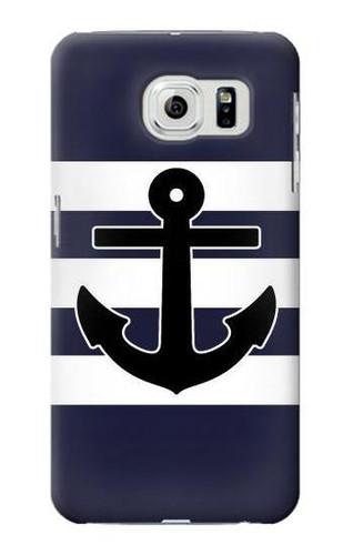 S2758 Anchor Navy Case For Samsung Galaxy S6 Edge