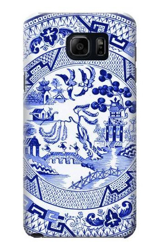 S2768 Willow Pattern Graphic Case For Samsung Galaxy S6 Edge Plus