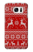 S2835 Christmas Reindeer Knitted Pattern Case For Samsung Galaxy S7
