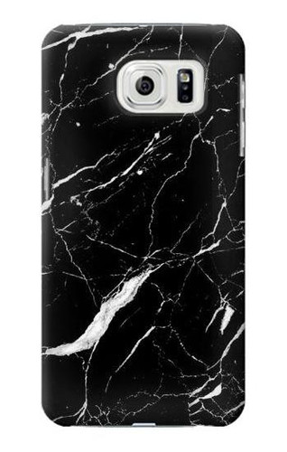 S2895 Black Marble Graphic Printed Case For Samsung Galaxy S7 Edge