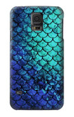 S3047 Green Mermaid Fish Scale Case For Samsung Galaxy S5