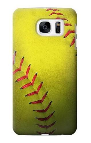 S3031 Yellow Softball Ball Case For Samsung Galaxy S7