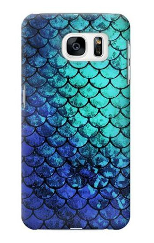 S3047 Green Mermaid Fish Scale Case For Samsung Galaxy S7
