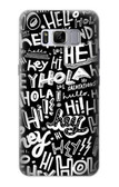 S2744 Hey Hi Hello Art Pattern Case For Samsung Galaxy S8 Plus