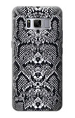 S2855 White Rattle Snake Skin Graphic Printed Case For Samsung Galaxy S8 Plus
