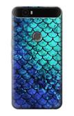 S3047 Green Mermaid Fish Scale Case For Huawei Nexus 6P