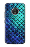 S3047 Green Mermaid Fish Scale Case For Motorola Moto G5 Plus