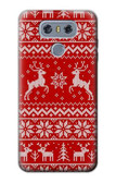 S2835 Christmas Reindeer Knitted Pattern Case For LG G6