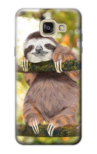 S3138 Cute Baby Sloth Paint Case For Samsung Galaxy A5 (2016)