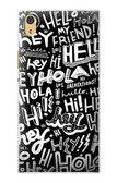 S2744 Hey Hi Hello Art Pattern Case For Sony Xperia XA1 Ultra