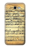 S2667 The Fowler Mozart Music Sheet Case For Samsung Galaxy J7 (2017), J7 Perx, J7V, J7 Sky Pro
