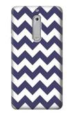 S2345 Navy Blue Shavron Zig Zag Pattern Case For Nokia 5