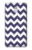 S2345 Navy Blue Shavron Zig Zag Pattern Case For Nokia 3