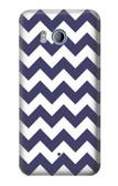 S2345 Navy Blue Shavron Zig Zag Pattern Case For HTC U11