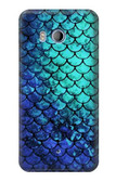 S3047 Green Mermaid Fish Scale Case For HTC U11