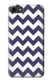 S2345 Navy Blue Shavron Zig Zag Pattern Case For iPhone 8
