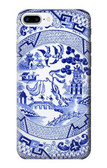 S2768 Willow Pattern Graphic Case For iPhone 8 Plus