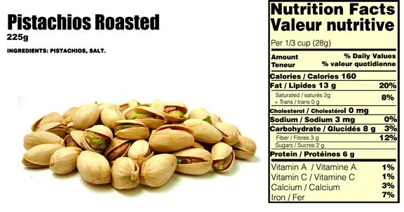 pistachios-nutritional