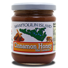 Whipped honey with Cinnamon added. Honey is great on toast, ice cream, fruit cups and anywhere you use sugar topping. Solid Honey.