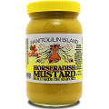 Hot mustard with that sinus rush of horseradish.