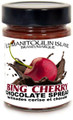 Bing Cherries in 60% dark chocolate. A yummy spread on everything!