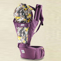 ORGA-eggplant-100% luxury organic hipseat carrier