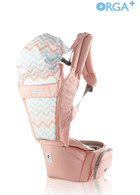Orga Plus All in one Carrier (Baby Carrier & Hipseat Carrier) ~ Color: Peach