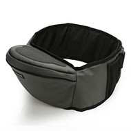 Baby Hipseat + Wrapper- Gray