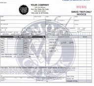 STOICC 342-3 | Smog Check Test Only Invoice / 3 Part Carbonless (8.5'' x 8.5'') (STOICC-342-3)