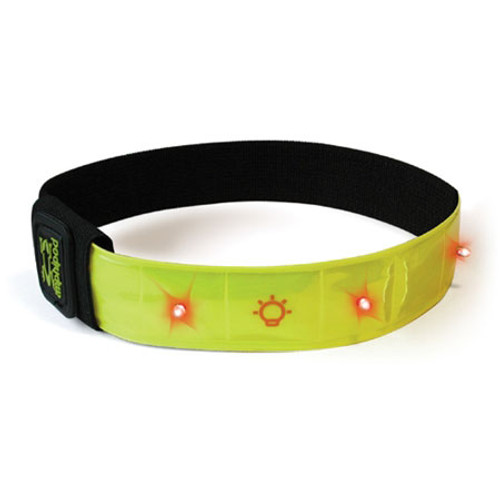 Amphipod Flashing Micro Light Arm Band in Bright Lime