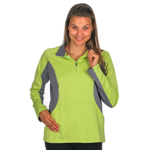 Reflective illumiNITE Motiv Half Zip Pullover Honeydew