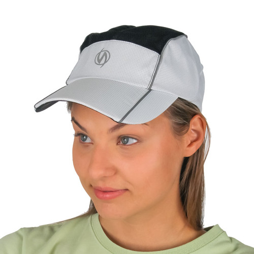 Reflective illumiNITE Mesh Running Cap White