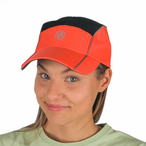 Reflective illumiNITE Mesh Running Cap Coral Glo