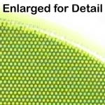 """Fluorescent Lime Yellow 1"""" Vinyl Safety Dot - Enlarged for Detail"""