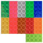 1 inch Reflective Dots. Adhesive Backing. Sticks to almost any surface! 8 count packaging.