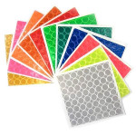 Reflexite 1 Inch Reflective Dots Sheet of 64