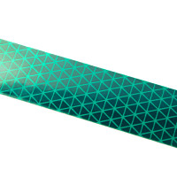 Green Reflexite V92 Daybright Conspicuity Tape 1x18 Strip