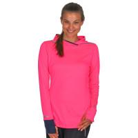 Brooks Running Women's Brite Pink Hoodie Long Sleeve Pullover Top