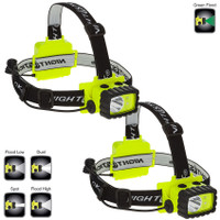 Intrinsically Safe Permissible Multi-Function Dual-Light™ Headlamp XPP-5458G GREEN