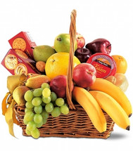 Fruit and Cheese Gift Basket