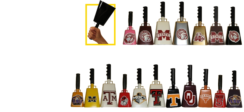 decals on cowbells