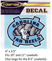 """N. Carolina Tar Heels Decal (4"""")"""