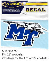 Middle Tennessee State Blue Raiders Decal
