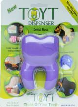 TOYT Dental Floss Dispenser in Purple