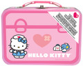 "Hello Kitty First Aid Kit: First aid for everyday bumps and bruises Kids first aid kit includes 75 pieces Set includes anti-itch cream, pain relief spray, 6 gauze pads (2"" x 2""), 4 soft gel fever patches, 10 antiseptic wipes, 15 large bandages (2.82"" x .75""), 15 small bandages (2.20"" x .75""), 1 small rectangle bandage, 8 get well stickers, 10 cotton balls and an emergency contact card Kit includes a pink carrying case with the likeness of Hello Kitty on the front"