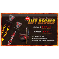 Weaver Lift Flame or Pinstripe Decal