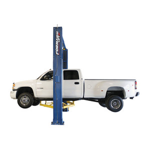 Forward Lift I-12 Certified 2 post lift with Crew Cab Dually