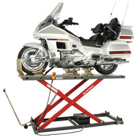K&L MC655 Hydraulic Motorcycle Lift (shown with optional Dolly & Casters)