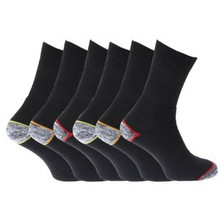 Mens Medium Duty Work Wear Socks (Pack Of 6)