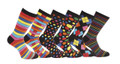 12 Pairs of Mens Vivid Odd Stripes and Spots Socks